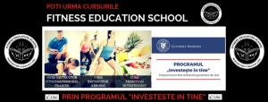 Fitness Education School sustine programul Investeste in Tine